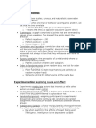 Descriptive Methods & Experimentation