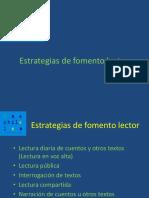 Presentacion Estrategias Fomento Lector