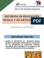 Reforma de Educ. Basica y Su Articulación