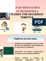 Plan Redacción Biografías y Planes Con Secuencia Temática.