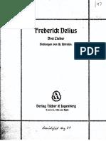 Delius - 3 Lieder