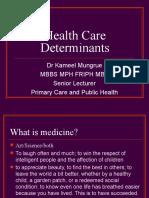 3.Health Care Determinants