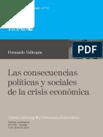32. Fernando Vallespín. Las Consecuencias Políticas y Sociales de La Crisis Económica