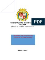 Modelo Plan de Auditoria Municipalidad Distrital de Huaura