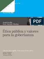30. Jordi Sevilla y José Antonio Marina. Ética Pública y Valores Para La Gobernanza.
