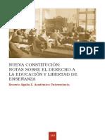 NUEVA CONSTITUCIÓN:NOTAS SOBRE EL DERECHO A LA EDUCACIÓN Y LIBERTAD DE ENSEÑANZA - ERNESTO AGUILA 2015