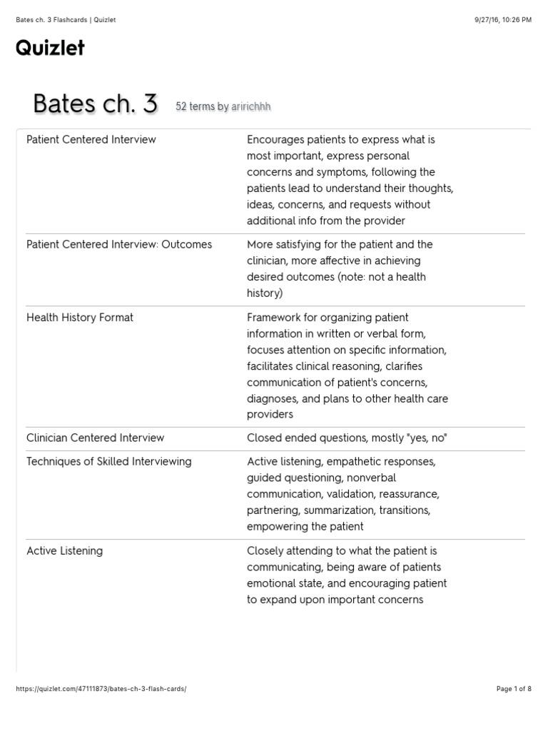 Bates chapter 3 Flashcards | Quizlet | Nonverbal