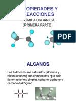 propiedades y reacciones organica