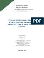 Leyes y Deontologia - La Etica Profesional
