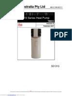 Rheem 310 Series Heat Pump Hot Water