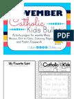 November 2016 Catholic Kids Bulletin