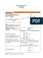 Harolds Calculus Notes Cheat Sheet 2016