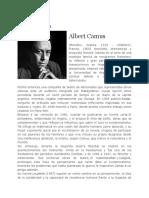 BIOGRAFÍA. Albert Camus