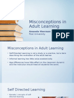 unit 8 final  misconceptions in adult learning