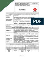 63. Fo-ssoma 039 Msds Gasolina
