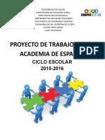Plan de Trabajo Anual Academia de Español 2015 2016