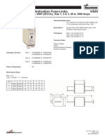 Bussmann HSDI Datasheet