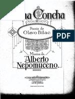 Nepomuceno, Alberto e Bilac, Olavo - Numa Concha