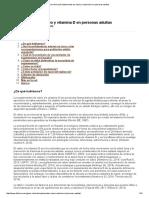 Guía Clínica de Suplementos de Calcio y Vitamina D en Personas Adultas