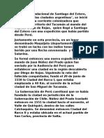 El Proceso Fundacional de Santiago Del Estero