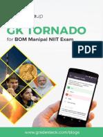 GK Tornado for BOM Manipal PO 2016 Exam
