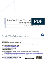 0-Introduction to X-ray Diffraction and Crystallography