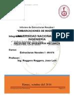 Informe - Estructuras Navales i - Embarcaciones Petroleras