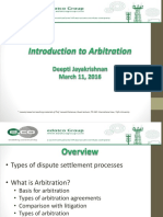 20160311 Introduction to Arbitration edotco Myanmar