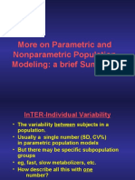 More on Parametric and Nonparametric Population Modeling