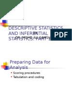 Descriptive and Inferential Statistics Part 1 2015