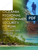 Oceania Regional Environmental Security Forum - US Pacific Command - May 2016
