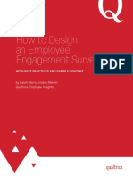 Qualtrics eBook How to Design an Employee Engagement Survey