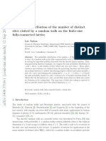 Probability Distribution of the Number of Distinct Sites Visited by a Random Walk on the Finite-size Fully-connected Lattice