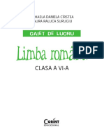 Limba Romana Caiet Cirstea 6