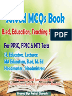 PPSC Solved Mcqs Sample Paper of Headmaster Headmistress and Subject