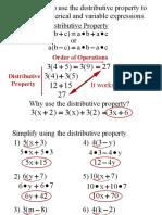Distributive Property PPT 8-23-16
