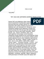 Tugas 4_Resume RFC 3022 NAT