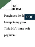 Awit Ng Paghilom2