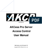 AKCessPro Server Access Control Manual