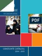Graduate School Catalog 2014 2015
