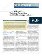 Sensor Networks, Wearable Computing, And Healthcare Applications