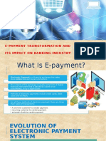 Transformation of E-payment & It's Impact on Banks