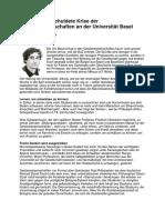 Die selbst verschuldete Krise der Geisteswissenschaften an der Universität Basel