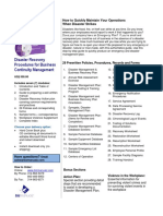 Disaster Recovery Procedures Manual Sample