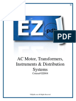 EE604 AC Motors Transformers Instruments Distribution Systems