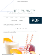 Peach Green Tea Smoothie - Recipe Runner