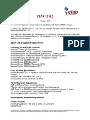 ETAP 12 6 5 Help | Windows Server 2003 | Microsoft Windows