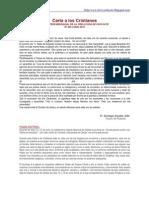 Carta a Los Cristianos Junio 2010
