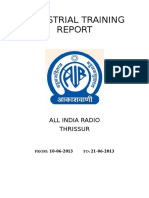 ALL INDIA RADIO Industrial Training Repo