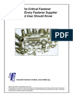 The Critical Fastener Facts Every Fastener Supplier and User Should Know 151020
